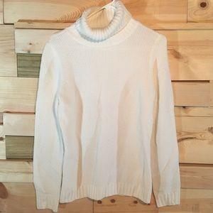 New York & Company cream turtle neck sweater